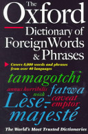 The Oxford Dictionary Of Foreign Words And Phrases Book PDF