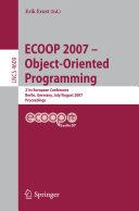 ECOOP   Object Oriented Programming