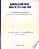 Duvalierism Since Duvalier