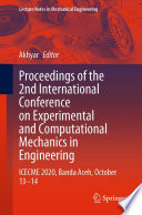 Proceedings of the 2nd International Conference on Experimental and Computational Mechanics in Engineering
