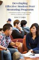 Developing Effective Student Peer Mentoring Programs