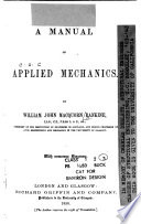 A Manual of Applied Mechanics Book