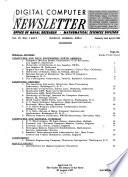Digital Computer Newsletter