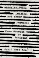 Whistleblowers, Leakers, and Their Networks Pdf/ePub eBook
