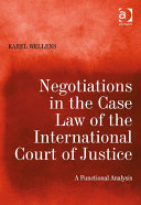 Negotiations in the Case Law of the International Court of Justice Pdf/ePub eBook