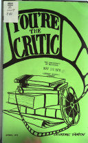 You're the Critic