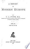 A History of Modern Europe  From 1814 to 1848