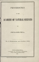 Pdf Proceedings of The Academy of Natural Sciences (No. 4 -- Sept. and Oct., 1868) Telecharger