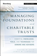 Managing Foundations and Charitable Trusts