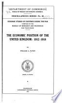 The Economic Position Of The United Kingdom 1912 1918