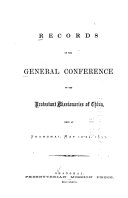 Records of the General Conference of the Protestant Missionaries of China