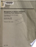 Management of Bottom Sediments Containing Toxic Substances