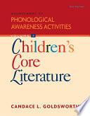 Sourcebook Of Phonological Awareness Activities Volume Ii Children S Core Literature