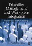 Pdf Disability Management and Workplace Integration Telecharger