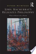 John Macmurray S Religious Philosophy