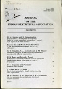 Journal of the Indian Statistical Association Book PDF