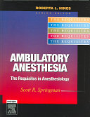 Ambulatory Anesthesia Book