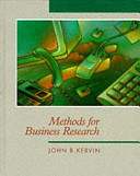 Cover of Methods for Business Research