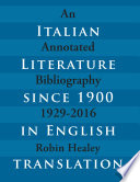 Italian Literature since 1900 in English Translation