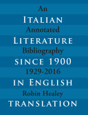 Pdf Italian Literature since 1900 in English Translation