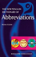 The New Penguin Dictionary of Abbreviations