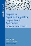 Corpora in Cognitive Linguistics
