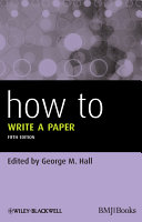 How to write a paper (2013)