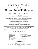 An Exposition of the Old and New Testament. In Six Volumes ... By Mattew Henry ... Vol. 1. [-6.] ebook