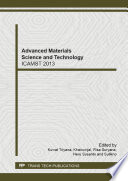 Advanced Materials Science And Technology Book PDF