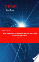 Exam Prep for: MyLab Programming for Starting Out with Java; ...