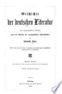 Geschichte der deutschen Literatur: Von den ältesten Zeiten bis zum ersten Viertel des 16. Jahrhunderts