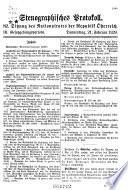 Stenographische Protokolle über die sitzungen des Nationalrates