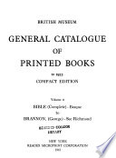 General Catalogue of Printed Books to 1955