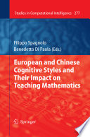European and Chinese Cognitive Styles and their Impact on Teaching Mathematics Book