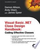 Visual Basic .NET Class Design Handbook
