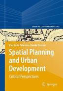 Spatial Planning and Urban Development Book PDF