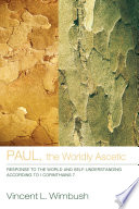 Paul The Worldly Ascetic Book