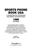 Sports Phone Book USA