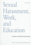 Sexual Harassment  Work  and Education