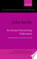 John Locke An Essay Concerning Toleration