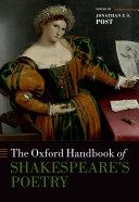 The Oxford Handbook of Shakespeare s Poetry