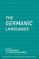 The Germanic Languages Pdf/ePub eBook