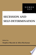 Secession And Self Determination