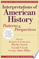 Interpretations Of American History Vol I