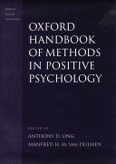 Oxford Handbook Of Methods In Positive Psychology