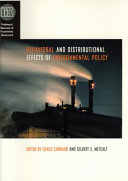 Behavioral and Distributional Effects of Environmental Policy Book