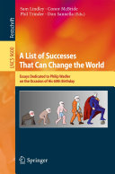 A List of Successes That Can Change the World
