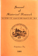 Journal of Historical Research Book