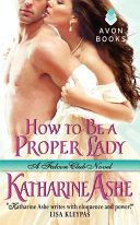 How to Be a Proper Lady Pdf/ePub eBook
