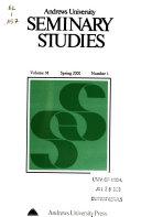 Andrews University Seminary Studies Book